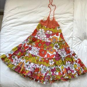 Girls maxi dress- flower print